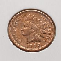 1 цент 1903 года США Индеец