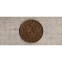Швеция 2 эре 1940/бронза/(Oct)