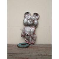 Мишка олимпийский ссср алюминий тяжелый