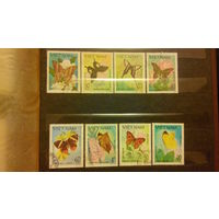 Бабочки, насекомые, марки, фауна, флора, цветы, Вьетнам, 1983