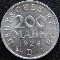 YS: Германия, Веймарская республика, 200 марок 1923D, KM# 35 (2)