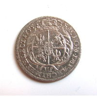 6 грошей 1755 Август III Речь Посполитая