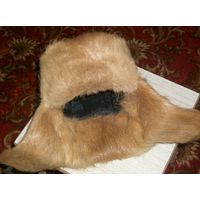 Шапка ушанка из меха нутрии разм.54-55