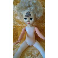 Кукла старенькая, кукла ссср, папье маше , пресс-опилки