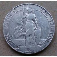 Великобритания 1 флорин (2 шиллинга) 1907, серебро