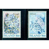 Исландия 1985 ** Рождество. Снежинки под солнцем.