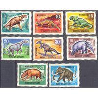 Монголия 1967 динозавры фауна