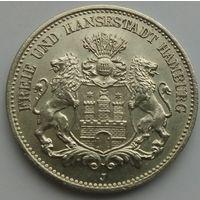 2 марки 1906 Гамбург UNC