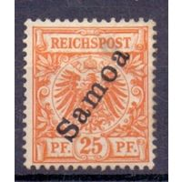 Германия Самоа 25 пф 1900 г