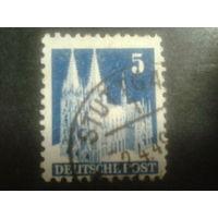 Германия 1948 Бизония L11 5 пф Кельнский собор
