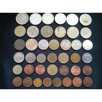 Лот монет со всего мира 41 шт!