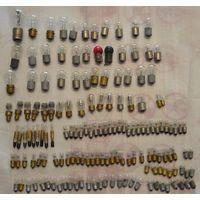 Лот 175 малых и больших лампочек от различных приборов.