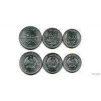 Лаос набор 1980 3 монеты FAO UNC