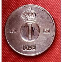 18-29 Швеция, 1 эре 1957 г.