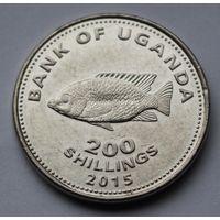 Уганда, 200 шиллингов 2015 г.