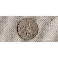 Фиджи 6 пенсов 1961/фауна/черепаха(Li)