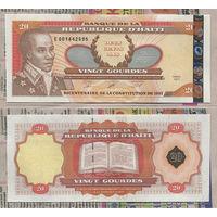 Распродажа коллекции. Гаити. 20 гурдов 2001 года (P-271Aa.2 - 2001 Regular Issue)