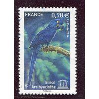 Франция. Юнеско. Охрана природы. Гиацинтовый ара