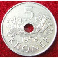 7666:  5 крон 1998 Норвегия