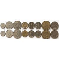 Испания 8 монет 1982-1992 годов. Хуан Карлос I (VF-XF)