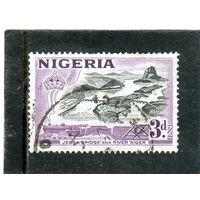 Нигерия. Mi:NG 76. Мост Джебба и река Нигер. Серия: Кантри мотивы. 1953.