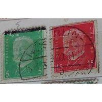 Второй  президент Германии Пауль фон Гинденбург. Германский Рейх.  Дата выпуска:1928-09-01