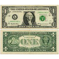 США. 1 доллар (образца 1999 года, L, Калифорния, P504)