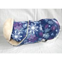 Попона для собак балонь, мех, размеры от чихуа до дога, липучки.