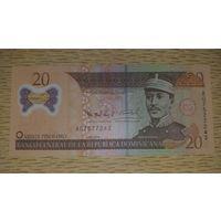 Доминиканская республика 20 песо оро 2009 UNC Пластик