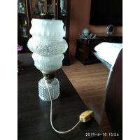 Настольная лампа из стекла СССР.