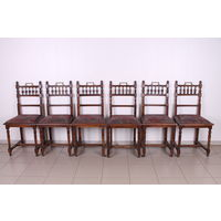 Комплект из 6 стульев.Антиквариат.Латунь.