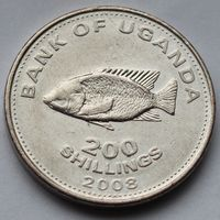 Уганда, 200 шиллингов 2008 г