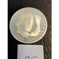 10 марок ФРГ серебро 0,625. Иоган Хердер. 85.