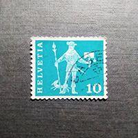 Марка Швейцария 1960 год История почты