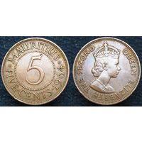 W: Маврикий 5 центов 1964 (103)
