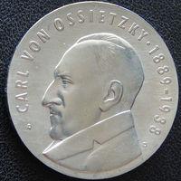 YS: ГДР, 5 марок 1989, 100-летие Карла фон Осецкого, публициста, лауреата Нобелевской премии мира, КМ# 131