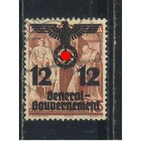 Германия Генерал-губернаторство 1940 Надп на польских марках #33