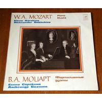 В. А. Моцарт. Фортепианные дуэты - Елена Сорокина, Александр Бахчиев (Вiнiл - 1981)