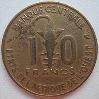 Западная Африка 10 франков 1968 г.