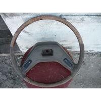 Руль от машины деревянный