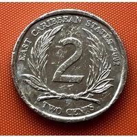 108-15 Восточные Карибы, 2 цента 2002 г.