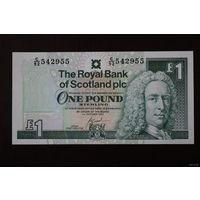 Шотландия 1 фунт 2001 UNC