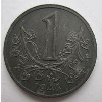 Богемия и Моравия (Чехия). 1 крона 1944 оккупация   .1-39