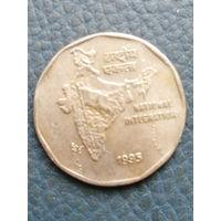 Индия. 2 рупии. 1995. Большая распродажа коллекции
