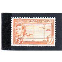 Каймановы острова.Ми-136. Карта островов. Король Георг V. 1955.