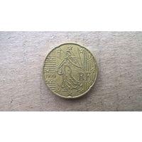 Франция 20 евроцентов, 1999г. (D-4)