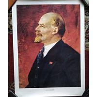 Плакат из СССР. Ленин В.И. 1989 г. Худ. П.Васильев. 48х66 см