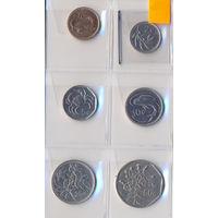 Мальта комплект монет (6 шт.) 1991-2001 гг.скидки.
