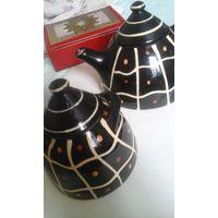 Сахарница и чайник керамические
