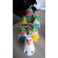 Попугай игрушка/брелок Подарок День рождения День Св.Валентина 8 Марта